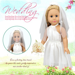 "Wholesale Doll Wedding Dresses American Girl - Christmas gifts children Wedding dress girls doll accessories hand princess skirt 18 ""American girl doll clothing selection YF289"