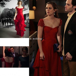 Wholesale Gossip Girl Floor Length Dress - Free Shipping reem acra resort 2016 gossip girl Leighton Meester Cap Sleeves Long Formal Evening Gowns Sweetheart Celebrity Dress WL361