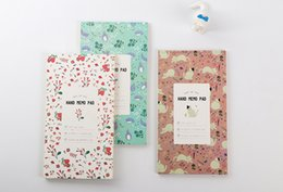 Wholesale Schedule Book - Wholesale- Lovely Animals Plants Notebook Journal Planner Week schedule plan Diary Book Portable Notepad Escolar Papelaria Gift Stationery
