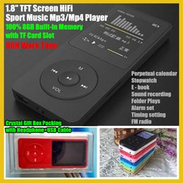 "Wholesale Voice Recorder Box - Wholesale- 1.8"" TFT Screen 8GB HiFi Sport Music Mp3 Player with TF SD Card Slot,FM,Recorder,Earphone+USB Cable+Crystal Box,80H worktime"