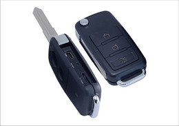 Wholesale Pinhole Voice Recorder - Car Key Hidden Camera S818 MINI Keychain pinhole Camcorders with Motion Detection Digital voice Video Recorder Support TF card