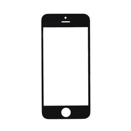 Wholesale Iphone 5c White Front - 200Pcs Top Quality Black White For Apple iPhone 4 4S 5 5C 5S front Out Glass Lens Touch Screen Panel Free DHL
