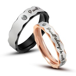 Wholesale Cheap Titanium Ring Sets - New Arrival Titanium Steel Single Cubic Zircon Women Popular Ring Size 4 to 10 Available Cheap Engagement Rings