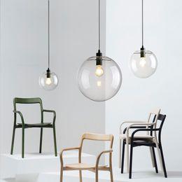 Kitchen Pendant Lighting Glass Balls Australia   LED Globe Glass Ball  Pendant Light Round Hanging Lamp