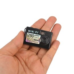 Wholesale Sound Detection Camera - Wholesale-720P Micro Camera Smallest Camcorder Mini DV DVR Digital Camera Video Recorder Sound Recording Motion Detection Webcam Mini