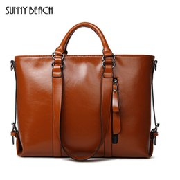 Wholesale Euro Style Bag - 2017 new Fashion design women handbag Simple Euro Style Pu Leather Tote one Shoulderd bag for Women