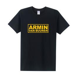 Wholesale Armin Van Buuren Shirt - DJ Armin Van Buuren Shirts Men Cotton 2016 Summer MC Club T-shirt Short Sleeve Hip Hop T Shirt Tops Tees Free Shipping OT-202