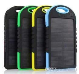 Wholesale Wholesale Cell Phone Products - wind generator 5000mAh Solar Charger and Battery Solar Panel port Fast charging environmentally friendly products DHL send goods