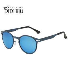 Wholesale Black Hippy - DIDI Hippie Small Round Polarized Sunglasses Women Men Metal Stainless Steel Glasses Flat Lens Vintage Hippy Eyewear Driving Goggles U743
