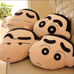 Wholesale Shin Chan Stuffed Toy - Wholesale- Gift for kids 1pc 45cm funny expression Crayon Shin chan cute plush hold doll pillow cushion novelty children stuffed toy