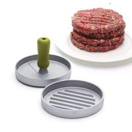 Wholesale Sausage Machines - Kitchen Hamburger Press Patty Mold Maker Pounder Metal Machine 12cm 4.8inch Drop Shipping meat stuffers sausage