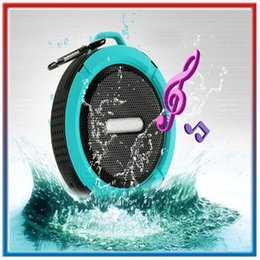 Wholesale Suction Cup Portable Speaker - C6 Speaker Outdoor Sports Shower Waterproof Wireless Bluetooth Speaker Suction Cup Handsfree MIC Voice Box Stereo Music Player