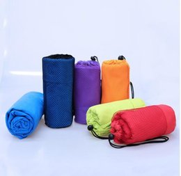 Wholesale Towelling Fabric Wholesale - 70x130cm Larger Size Sports Towel With Bag Microfiber Gym Towel toalha de esportes Swimming Travel essiential 5 colors