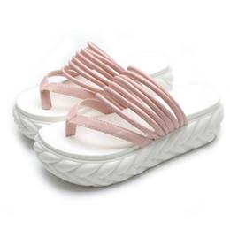 Wholesale High Ankle Gladiator Sandals - 2017 Summer Flat Sandals Ladies Bohemia Beach Flip Flops Gladiator Women Shoes Sandles platform Zapatos Mujer Sandalias 165W