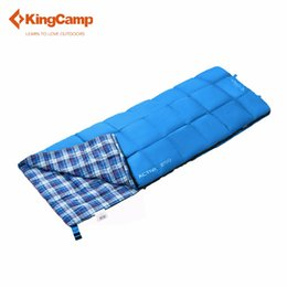 Wholesale Cotton Flannel Sleeping Bags - Wholesale- KingCamp Camping Envelope Sleeping Bag with Flannel Lined 4 Color Outdoor Sleeping Bag for Spring & Autumn Four Colors Available