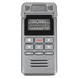 Wholesale Digital Voice Activated Recorder - Wholesale-8G LCD Digital Voice Activated Rechargeable Audio Recorder Dictaphone MP3 Player