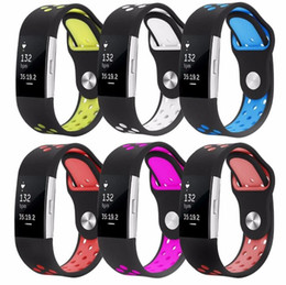 Wholesale Low Price Fitness - lowest price For Fitbit Charge2 charge 2 Adjustable Dual Color Silicone Straps Bands Fitness Replacement Accessories Wrist Band Sport Band