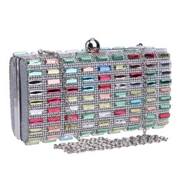 diamond clutch bag colorful Promo Codes - Wholesale-Colorful rhinestones evening bags diamonds clutches evening bag case purse wedding day clutch evening bags for party bag