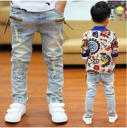 Wholesale Wearing Jeans Summer - 2017cChildren's wear the spring and autumn period and the boy's jeans with thin section trousers trousers summer cuhk children's children cu