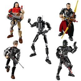 Space Wars Figurines d'action Rogue One Building Blocks Figures Chirrut Imwe Baze Malbus Jyn Erso K-2SO Imperial Death Trooper Space Wars Figure à partir de fabricateur