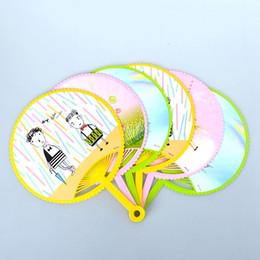 Wholesale Summer Cute Fan - Summer round, heart-shaped portable plastic fan, children's cartoon cute fan, drive mosquito, fan wind multi-purpose process fan