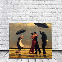 Wholesale Raining Wall Painting - DIY Painting By Numbers Kits Acrylic Paint Romantic Rain Dancer On Canvas Hand-Painted Oil Painting For Wall Art Work For Living Room Decor