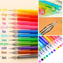penna di anguria Sconti HOT 12Pcs Materiale scolastico a forma di penna di gel di colore della caramella di colore Disegna il regalo dello studente delle penne