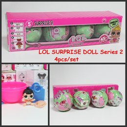Wholesale Baby Retail Box - 4pcs set LOL Surprise Dolls Baby Dolls Lil Sisters Series 2 Lets be Friends Action Figures Toys Baby Doll With Retail Box