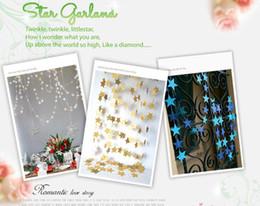 Decoraciones de la ducha de la boda del bebé azul online-Baby Shower Wedding Party Bunting Estrella Oro Plata Azul Papel 4m Decoración Banner Garland