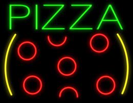 """Restaurante comercial letreros de neón online-PIZZA Letrero De Neón Hecho A Medida Hecho A Mano Comercial Tubo De Vidrio Real Soporte De Pizza Pizzería Tienda Pub Publicidad Exhibición Letreros De Neón 17 """"X14"""""""