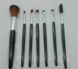Wholesale New Eyebrow Powder - New kylie jenner face and eyebrow wet powder makeup brush 7pcs set dhl ship