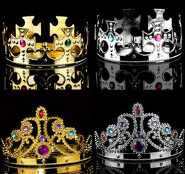 Wholesale Princess Birthday Hats - Princess Queen Crown King And Queens Crown Hats Cosplay Holloween Party Birthday Princess Hats Crown KKA2332