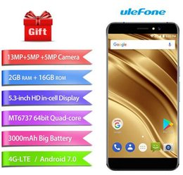 Wholesale Smartphone Android 2gb Ram - Uelfone S8 Pro Smartphone MTK6737 Quadcore Smartphone 2GB RAM 16GB ROM Mobilephone 5.3 Inch Fingerprint ID Android 7.0 Smartphone Hot Sale