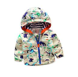 Wholesale Ski Jacket Wholesaler - Kids jacket baby boys girls cartoon animal printed Baseball uniform children hooded zipper leisure outwear fashion kids ski-wear T1330