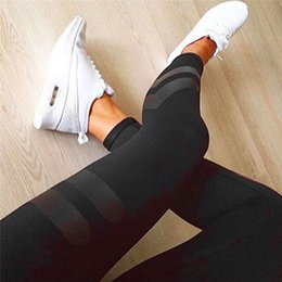Wholesale Wholesale Sports Tights - Wholesale- 2017 Running Training Gym Sport Pants Compression Tights Women Sports Pant Jogging Leggings Trousers Sportswear Clothing