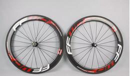 2019 kohlenstoff-straßenräder china Heißer Verkauf Räder F6R 50mm Radsatz gerade Zug Powerway R36 A271 Carbon-Naben Vollcarbon-Straße Fahrrad Fahrrad Räder schwarz rot Geschenke