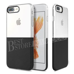 Wholesale Plastic Case Inch - Phone Case For iPhone 6 6S 7 Plus 4.7 5.5 inch Double Material TPU Hard PC 2-in-1 Durable Protective Shell Creative