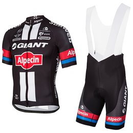 Wholesale giant cycling jersey white - Free shipping Giant cycling jersey mens team pro cycling wear Ropa Ciclismo summer breathable GIANT bike Maillot Culotte