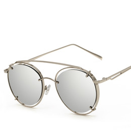 Wholesale Face Shapes Glasses - New Unisex Sunglasses Classic Fashion wild Round Face Shape Repair Polarizer Glasses HD Beach Outdoor UV Sunshades
