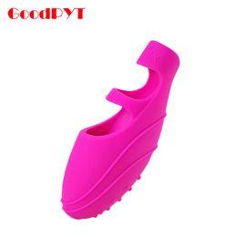 Wholesale Vibrating Sleeves - G-Spot Finger Sleeve Vibrator Sex Toy for Couples Waterproof Vibrating Egg Pleasure Vibration Full body Massager
