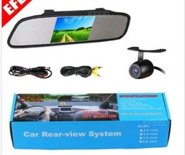 "Wholesale Rearview Backup Camera - New 4.3"" Screen TFT Car LCD Rear View Rearview DVD Mirror Monitor+Backup Camera"