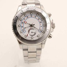 Wholesale Mens Glasses Trends - Hot Luxury Brand Dial Black Belt Men Blue Stainless Pointer Trend Role Watch Mens Fashion Reloj Master Automatic Watches WristWatches