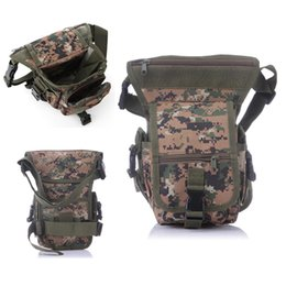 2017 Molle Impermeabile Camo Nylon Oxford Waistpack Tactical Motorcycle Leg Bag Satchel Marsupio Outdoor Military Assault Bag Pack da pacchetti di assalti di molle fornitori