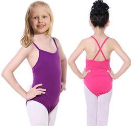 Wholesale Clothing For School - School Gym Girls Ballet Dress For Children Girl Dance Clothing Kids Ballet Costumes For Girls Dance Leotard Girl Dancewear