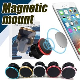 Wholesale Racks For Cars - Universal Air Vent Magnetic Car Mount Holder for Cell Phones and Mini Tablets with Swift-Snap Air outlet Mobile Phone Rack Holders