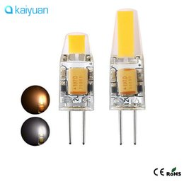 Wholesale Cree Led Dc Light Bulbs - Epacket ship High Quality G4 LED Dimmable 12V AC DC COB Light 3W 6W LED G4 COB Lamp Bulb Chandelier Lamps LED light warranty 3 year