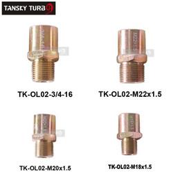 Placa de filtro de óleo on-line-By-Pass Porcas de Montagem de Porca: M18x1.5 / M20x1.5 / 22x1.5 / 3 / 4-16 para ADAPTADOR DE PLACA DE SANDUÍCHE FILTRO DE ÓLEO TK-OL02-M20 x 1.5