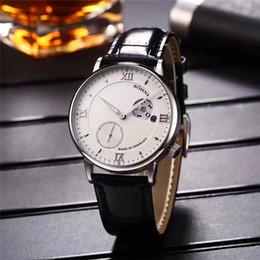 Wholesale Unique Sapphires - 2017 New Listing Top Luxury Mens Watches Top Imported Mechanical Sapphire Glass Unique Half Circle Calendar Design luxury wristwatches