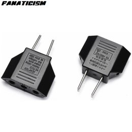 Wholesale Plugs Adapter - Universal USA Electrical Plug EU To US Plug Adapter Converter US Travel AC Power Plug Adaptador