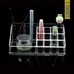 Wholesale Tattoos Lips Boxes - Creative Desktop transparent acrylic tattoo Lip Gloss Lipstick cosmetics box